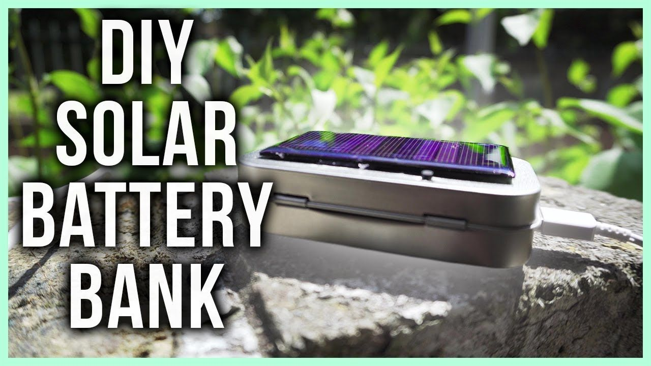 How to make a Solar Power Bank handmade crafts HowTo