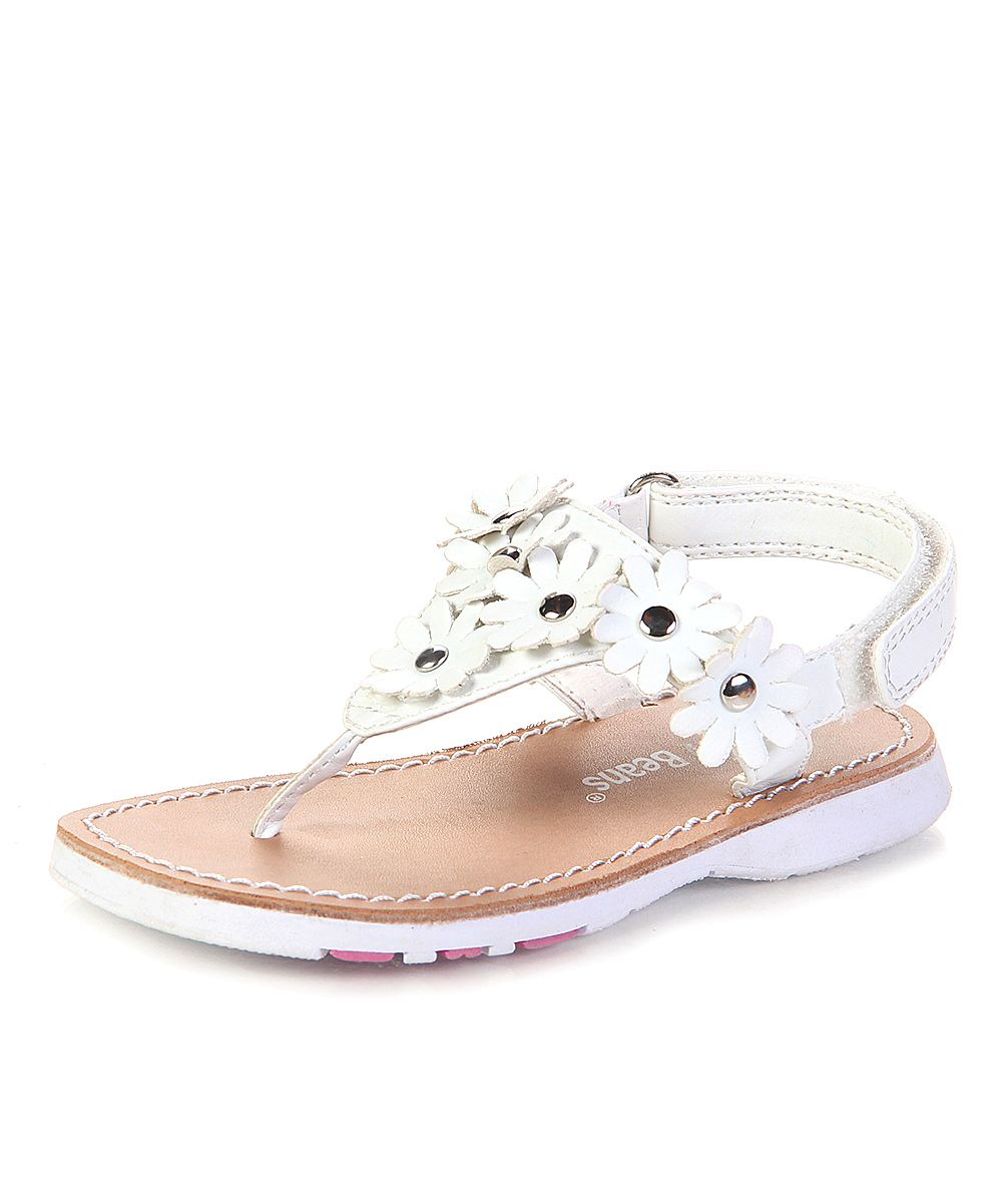 White Floral Sandal | Daily deals for moms, babies and kids