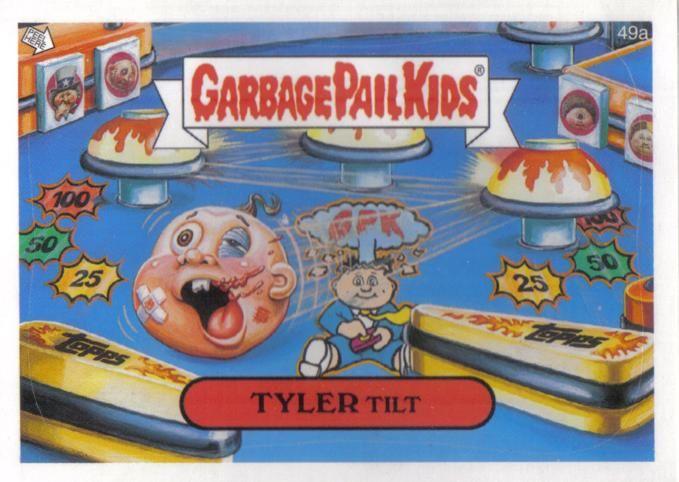 Tyler Tilt Of Garbage Pail Kids Card Collection 80 Sart Gpk Modernart Nostalgic Garbage Pail Kids Garbage Pail Kids Cards Kids Cards