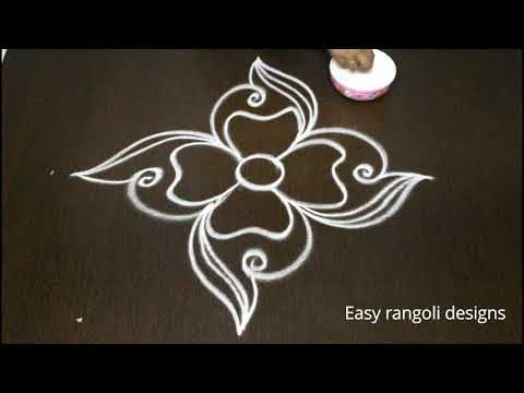 Deepam Kolam Designs With Dots Easy Muggulu Rangoli Designs