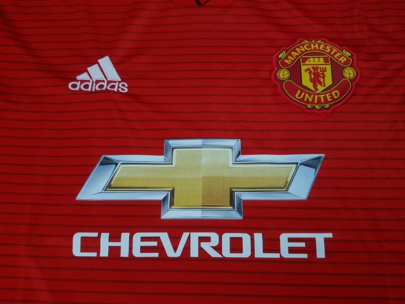 Manchester United 2018 2019 Home Kit Men S Soccer Football Jersey Close Up Soccer Jersey For Him Gift Ideas For Men Soccer Jersey Jersey Soccer Fans