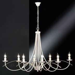 Imponerende lysekroner Hannes åtte lyskilder