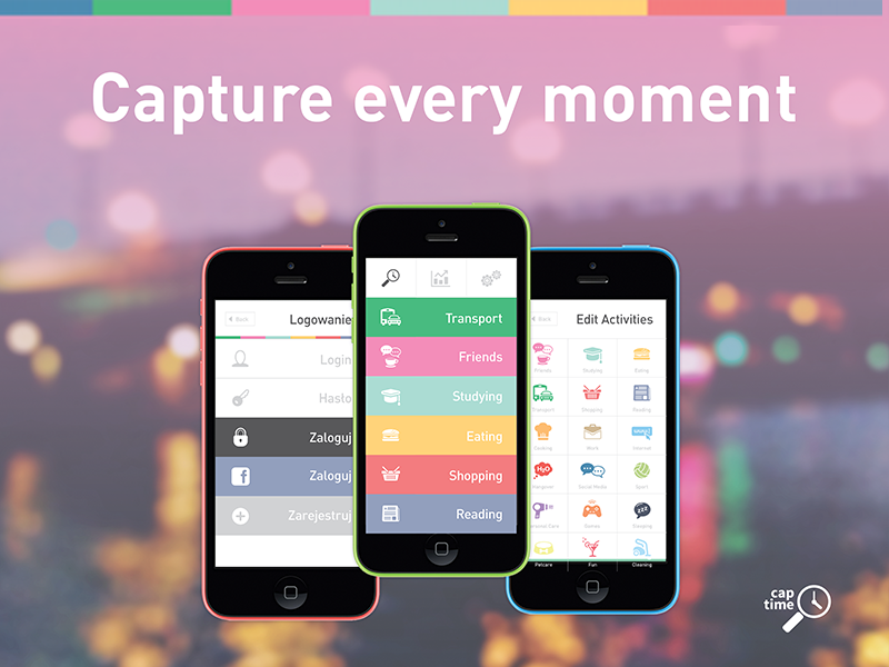 Captime - Time Tracking Mobie App by Kamila Figura
