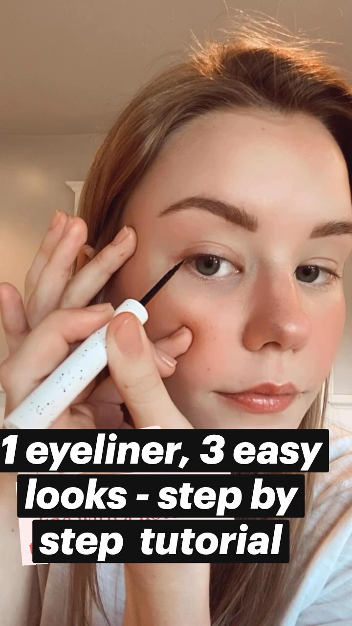3 Liquid Eyeliner Looks   Easy Liquid Eyeliner Tutorial