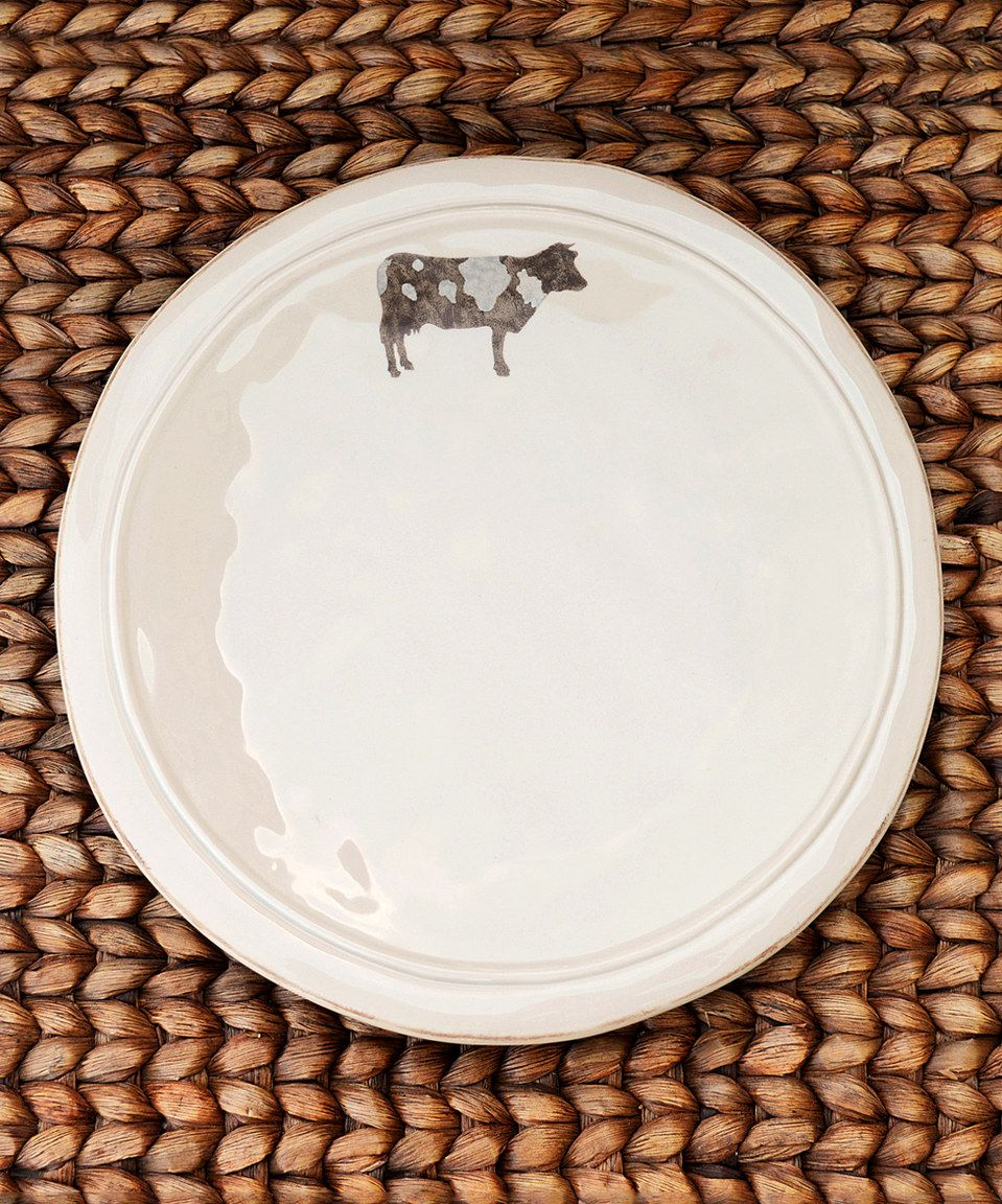 Cow Dinner Plate - Set of Four by Ragon House #zulily #zulilyfinds  sc 1 st  Pinterest & Cow Dinner Plate - Set of Four by Ragon House #zulily #zulilyfinds ...
