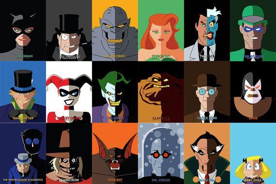 Batman the Animated Series DC Comics Poster Print BTAS