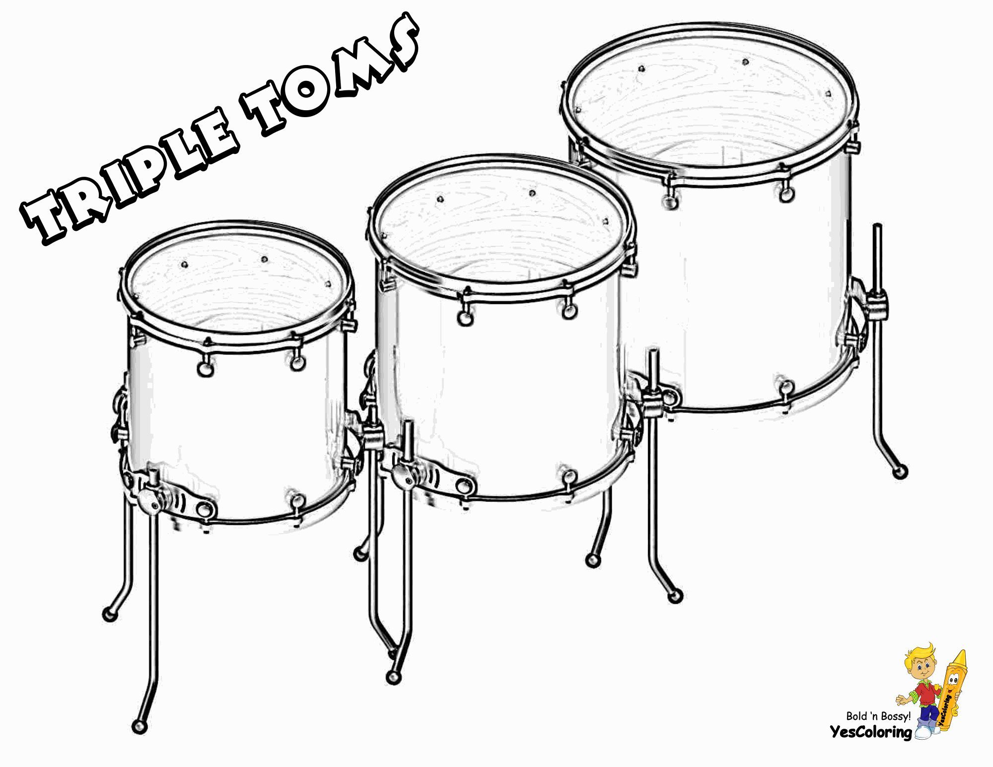 Pin On Cool Musical Instruments Coloring Pages