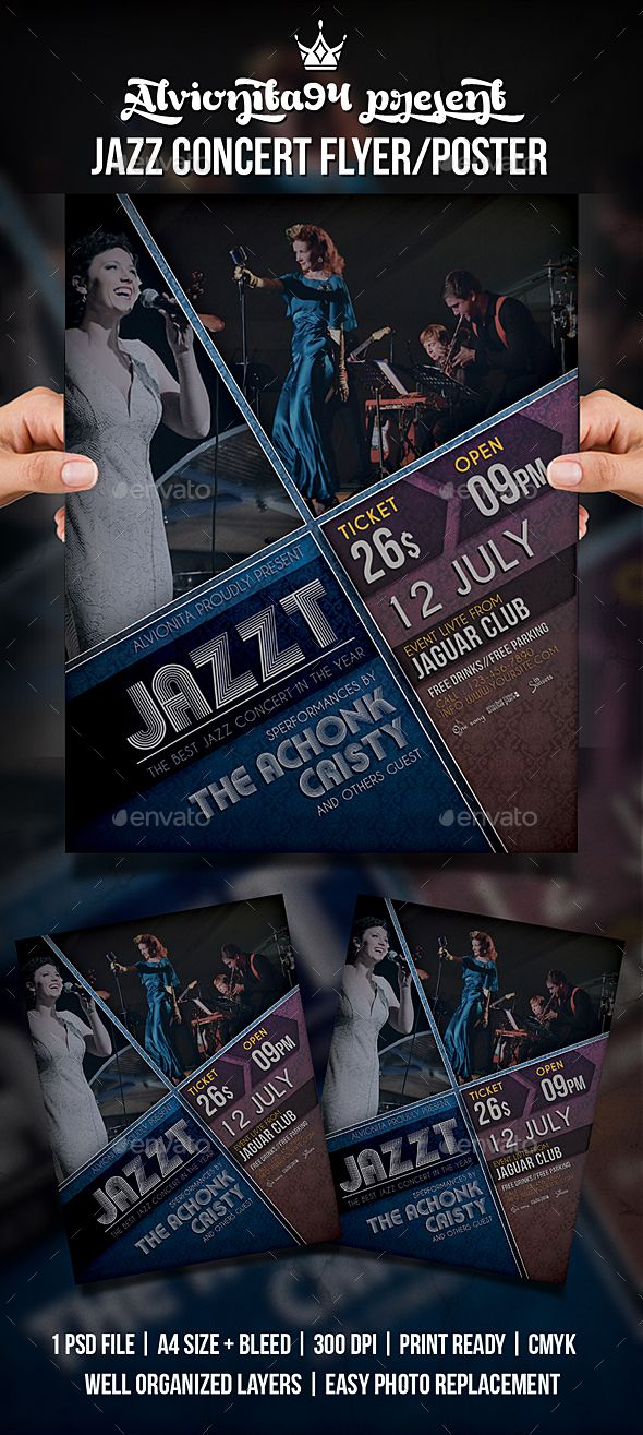 Pin by Maria Alena on Flyer Concert flyer, Jazz concert, Music flyer