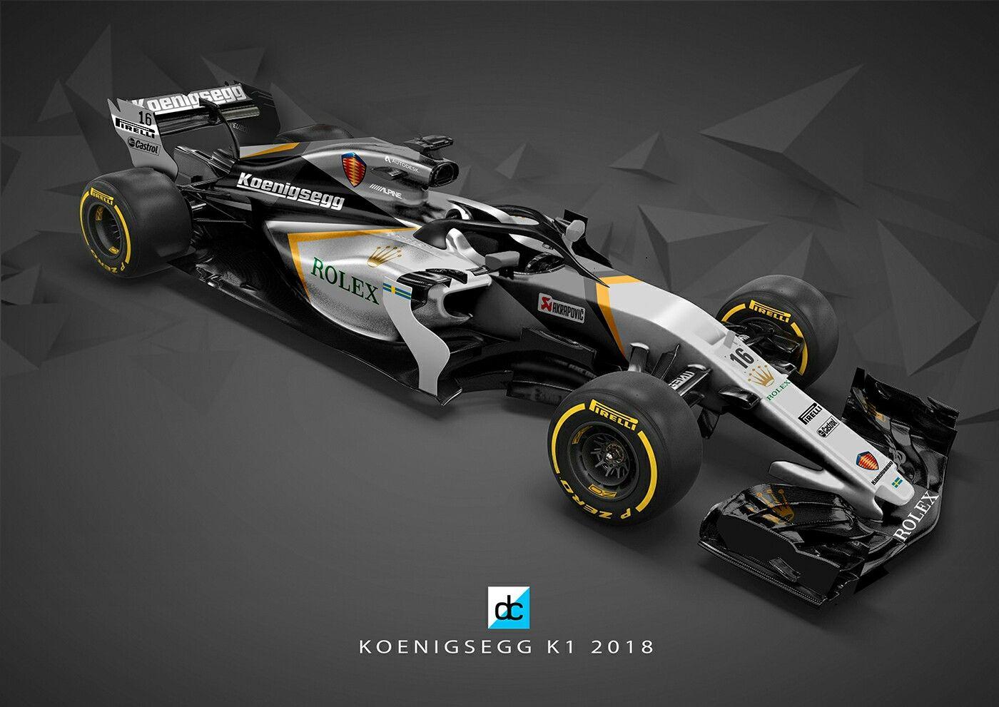 Koenigsegg F1 Team By Daniel Crossman Carros De Luxo Carros Formula Um
