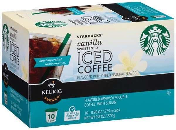 New Starbucks Sweetened Iced Coffee K Cups 10ct Only 1 49
