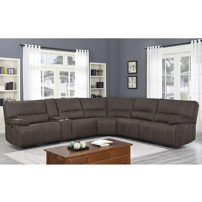 Pin By Lori Shoberg On For The Home In 2020 Reclining Sectional Power Reclining Sectional Sofa Sectional Sofa With Recliner
