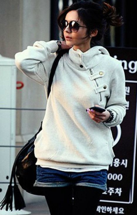 c47a2e48ae3 Women Hot Korean Sport Casual Hoodies Plus Size