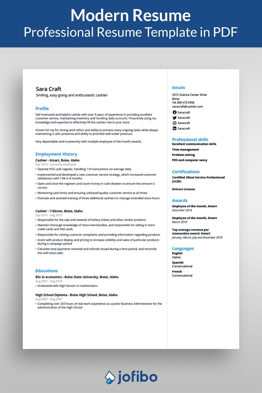 Modern Resume Template Modern Resume Template Resume Template Resume Templates