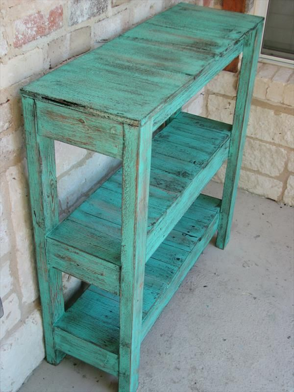 Marvelous DIY Pallet Potting And Entry Way Table | Pallet Furniture DIY   Picmia