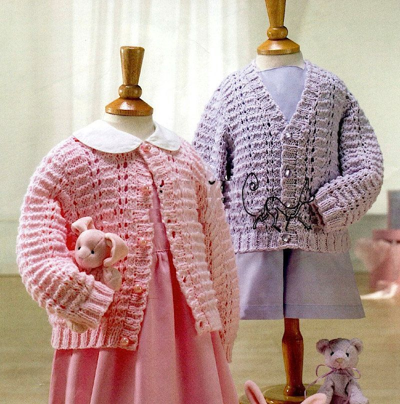PDF Digital Knitting Pattern Baby Girls Classic Cardigans 2 ...