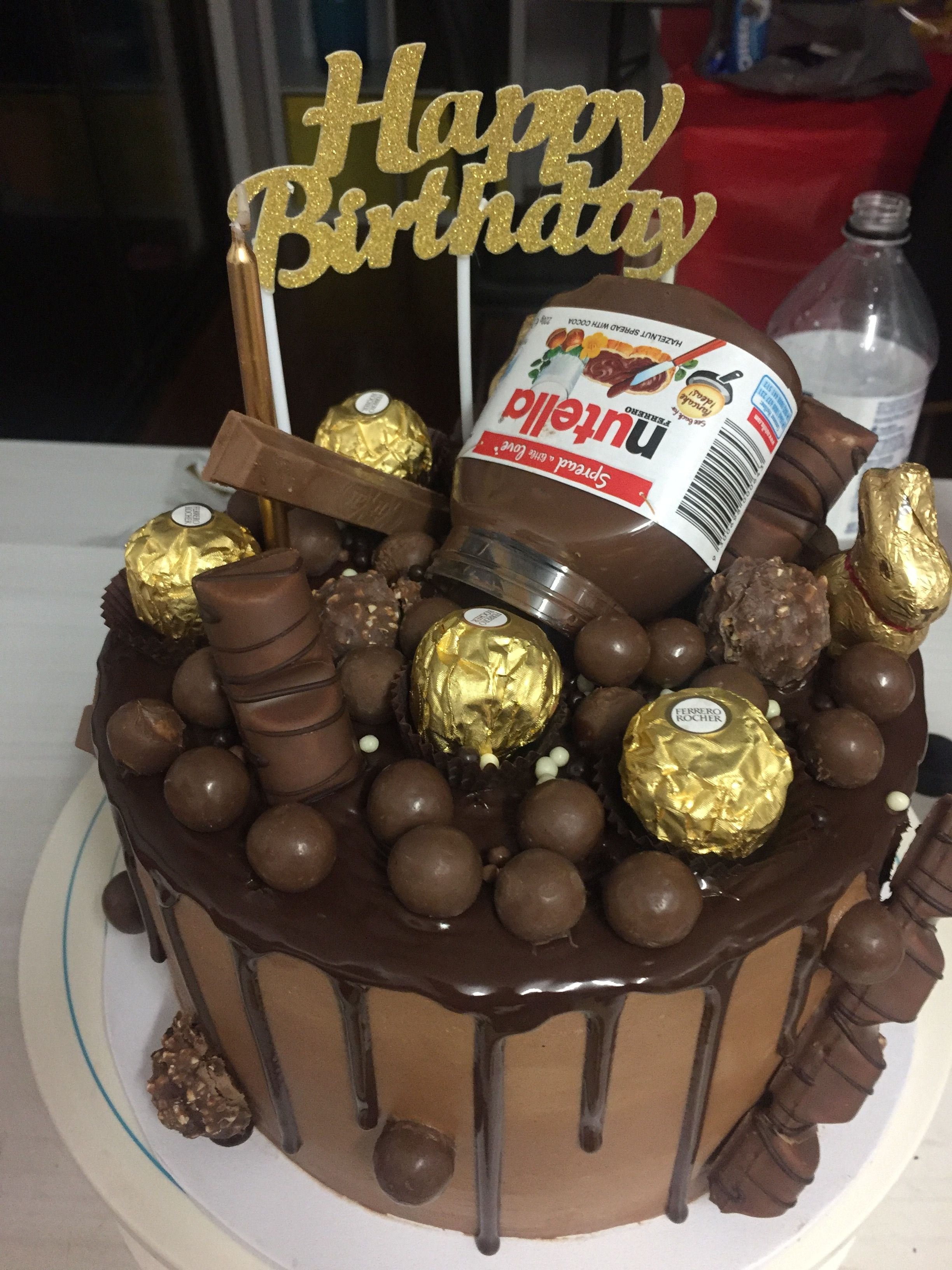 Phenomenal Daughter In Law Jesss 26Th Birthday Chocolate Choc Drip Cake Funny Birthday Cards Online Necthendildamsfinfo