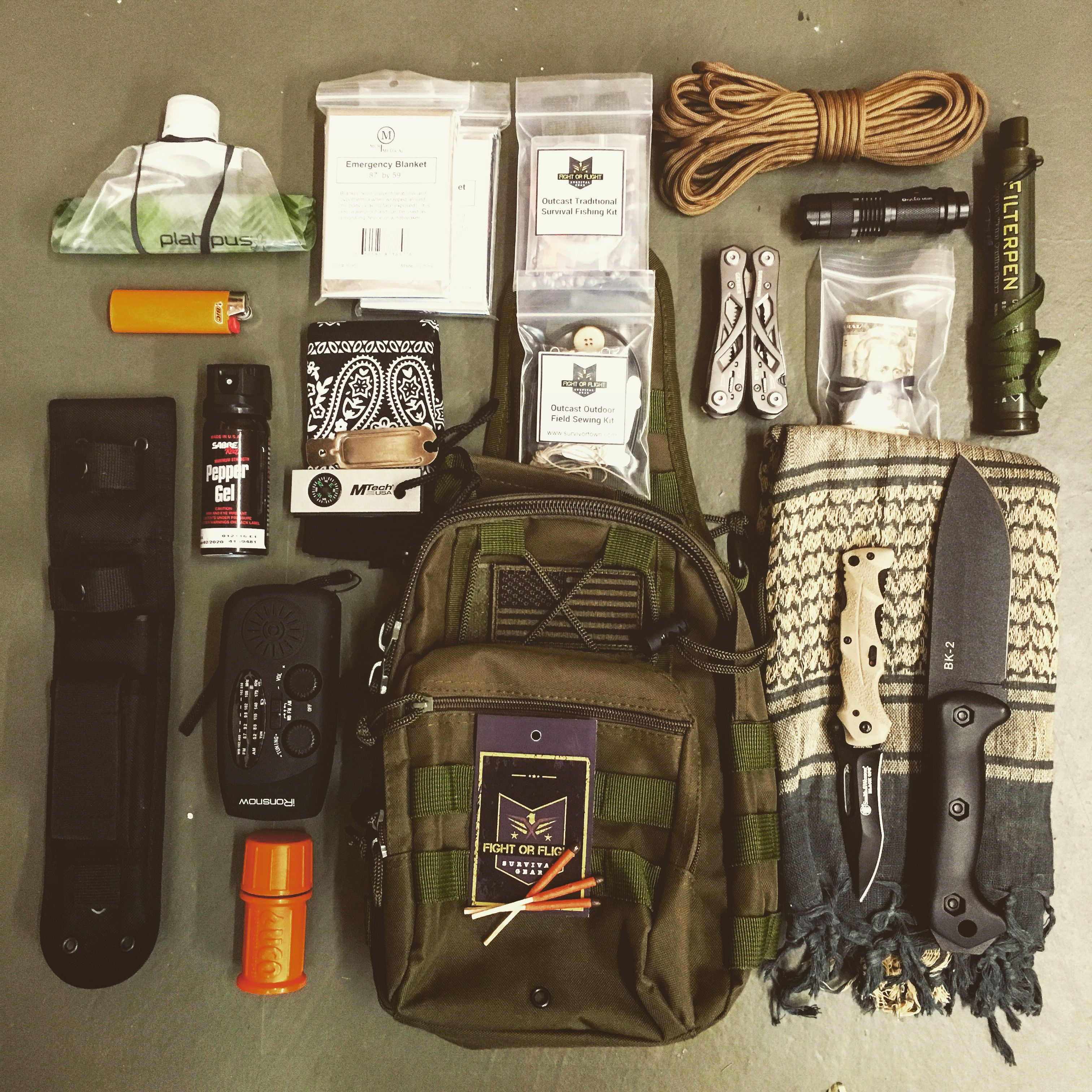 Get Home Bag List Get Prepared Gear Survival Bug