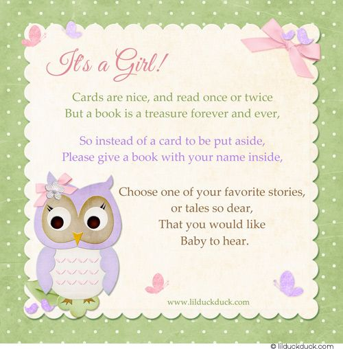 Shower Book Instead Of Card | Baby Meet U0026 Greet Finished Cardstock Back Idea