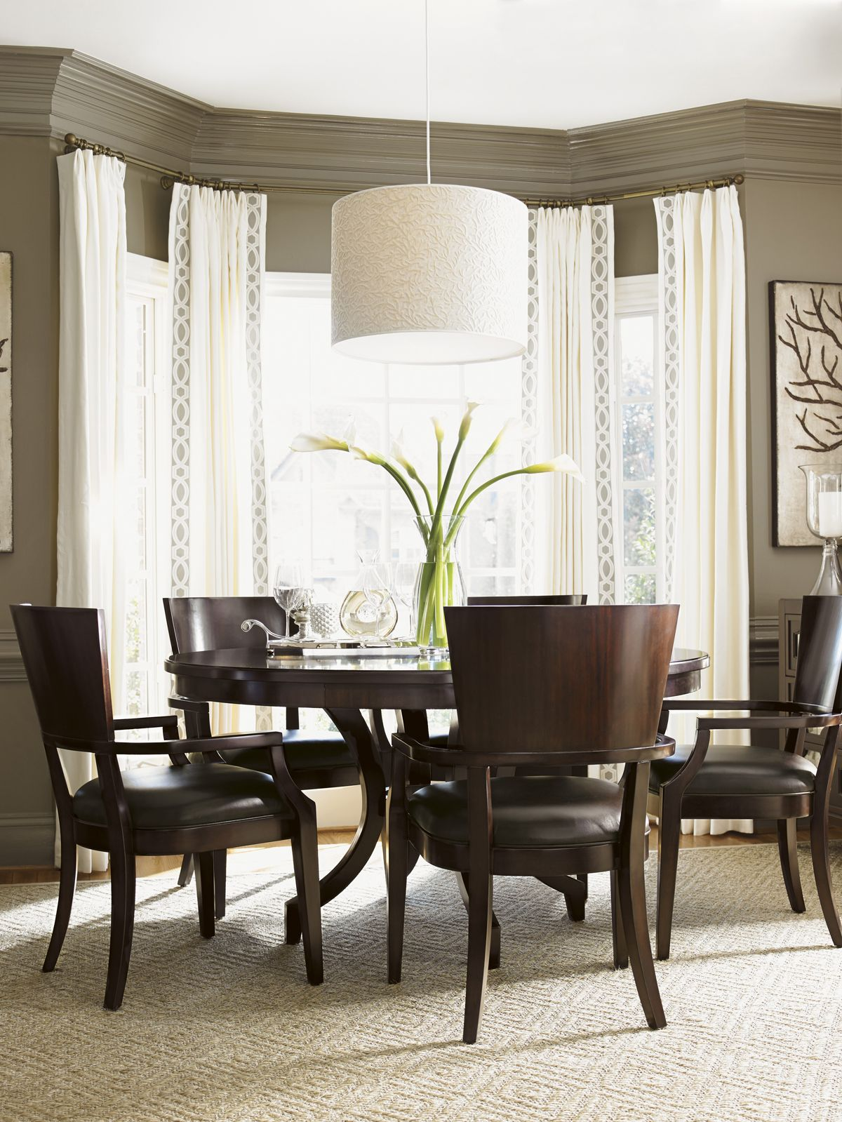 Kensington Place Beverly Glen Round Dining Table | Lexington Home ...
