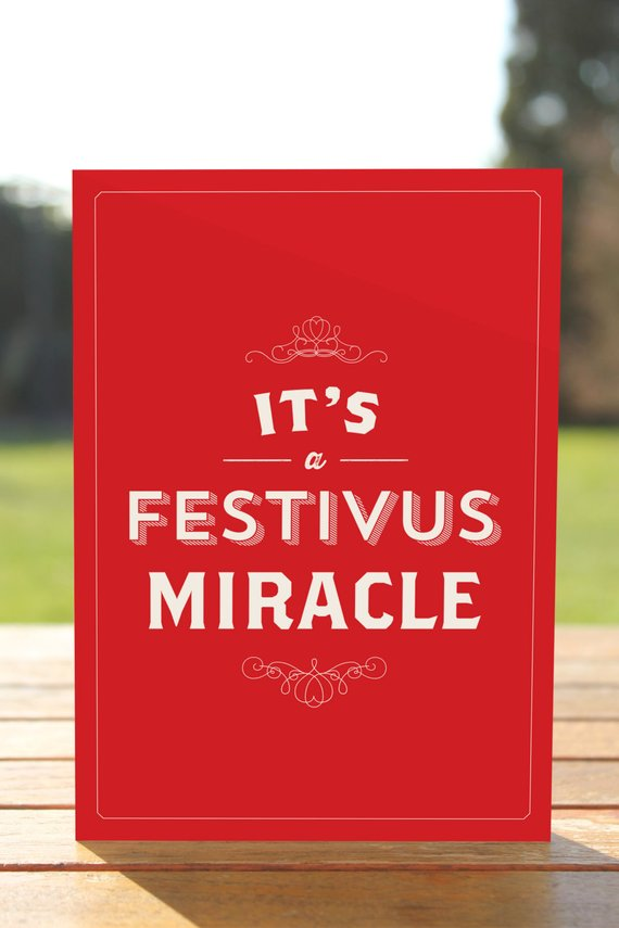 It\'s a Festivus Miracle - Seinfeld Greeting Card - Christmas ...