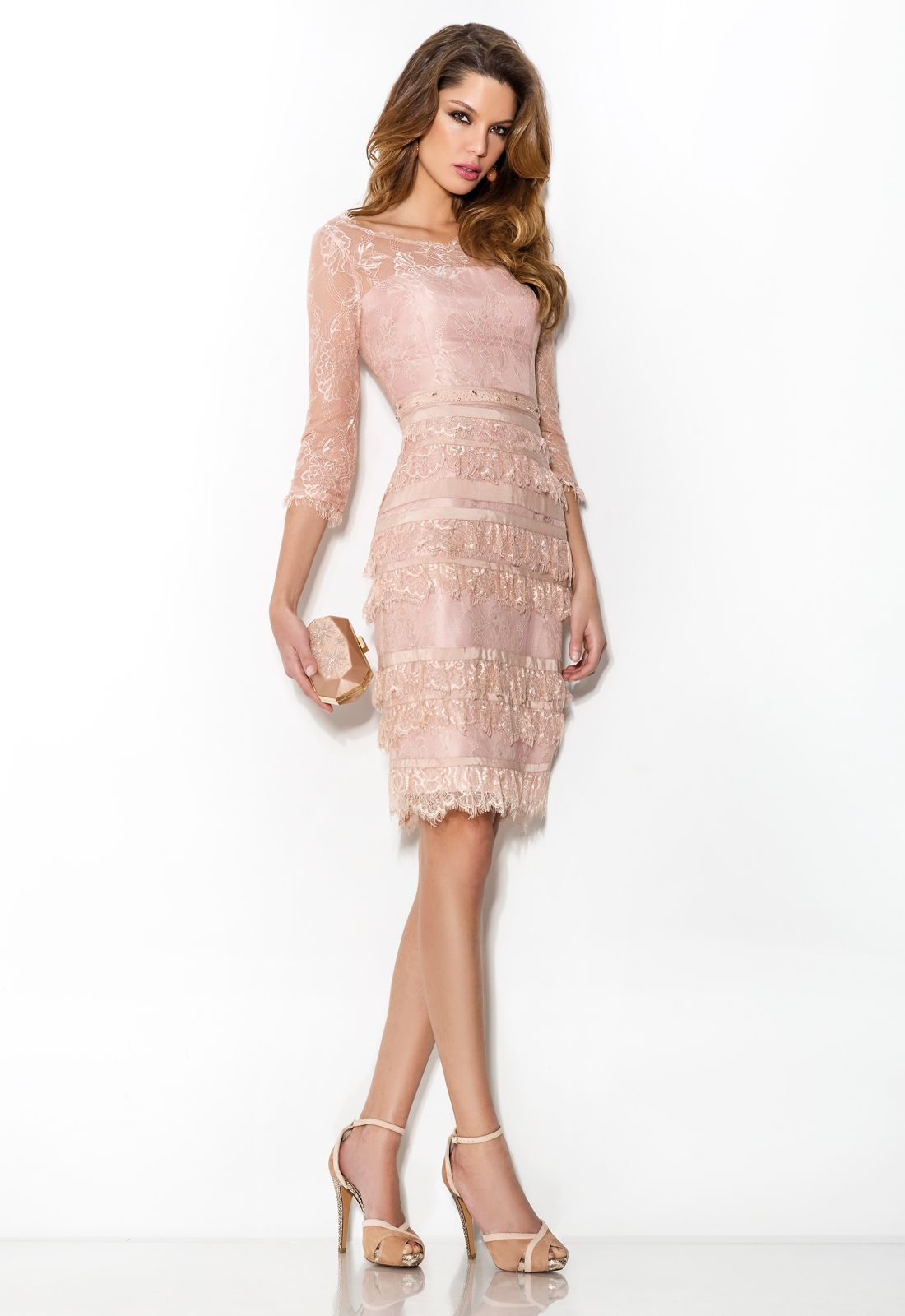 Charming sheathcolumn jewel 34 length sleeve beading cascading charming sheathcolumn jewel 34 length sleeve beading cascading ruffles lace kneelength lace ombrellifo Image collections