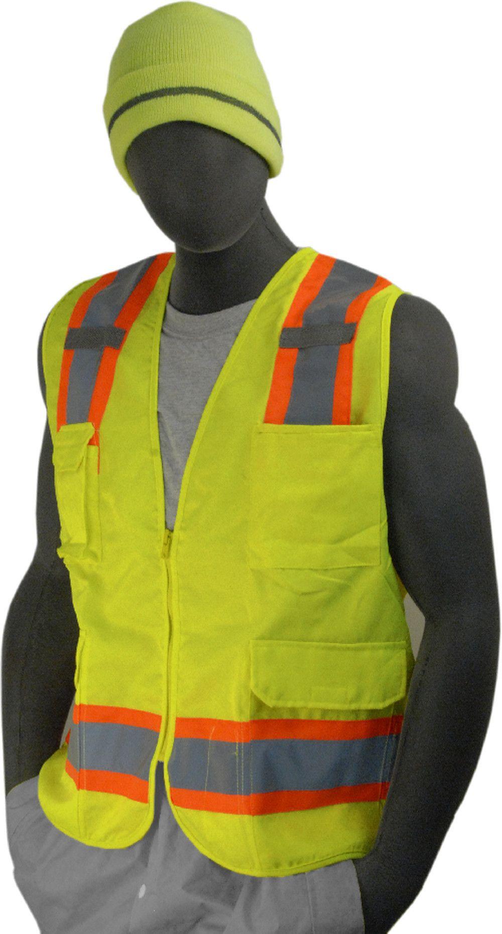 Safety Vest Majestic 753223 CL2 Hi Vis Surveyor Vest