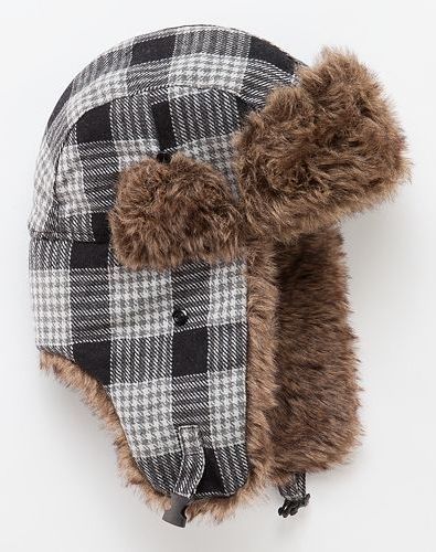 467b549e7a902 Stay warm in this Urban Pipeline Plaid Wool-Blend Trapper Hat  Kohls