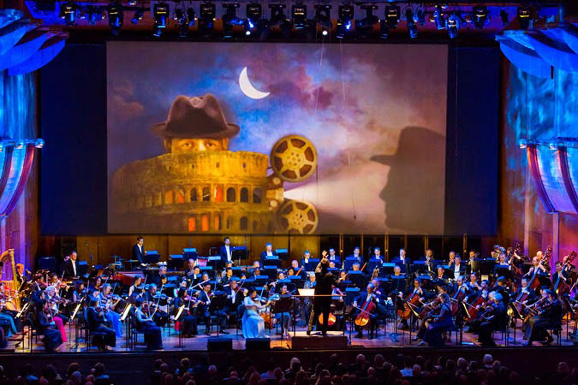 New York Philharmonic Opening Gala 2014, projections and set design by Giuseppe Ragazzini