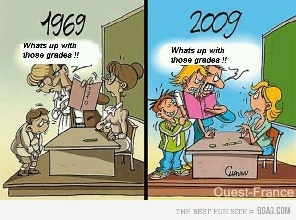 So true. Parents these days are so self-satsified, it makes them worse than their bratty kids.