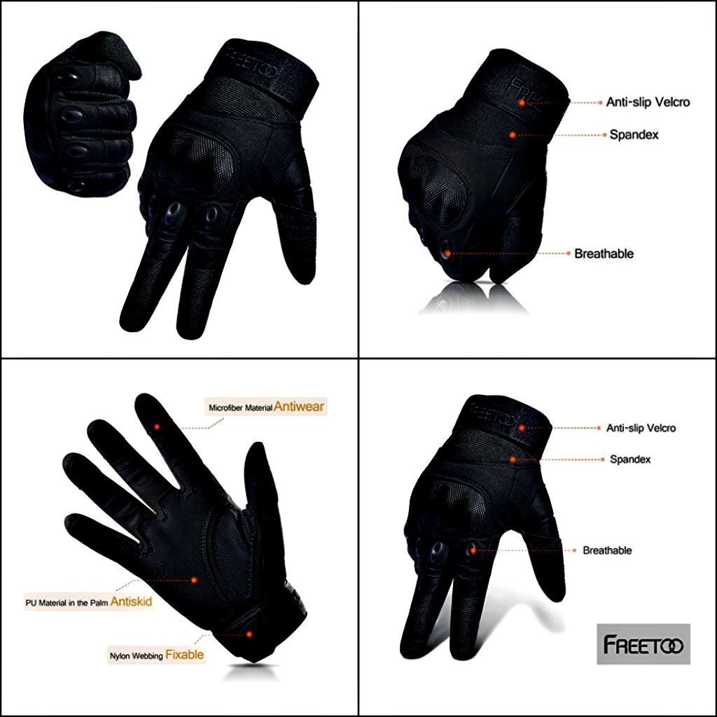 Motorcycle gloves hard knuckles - The Freetoo Hard Knuckle Full Finger Tactical Gloves Are Multipurpose And Best For Motorcycling Also Which