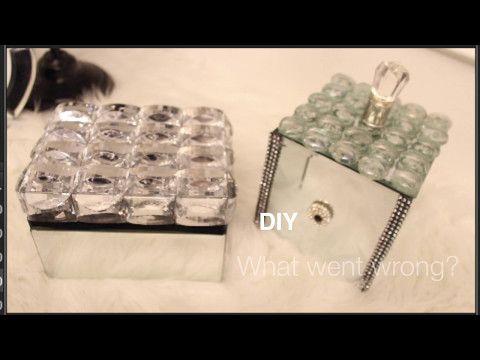 Lwb Dollar Tree Diy Jeweled Mirrored Gift Box Super Easy