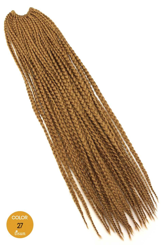 Zury Synthetic Crochet Braiding Hair Box Medium Braids 22 With