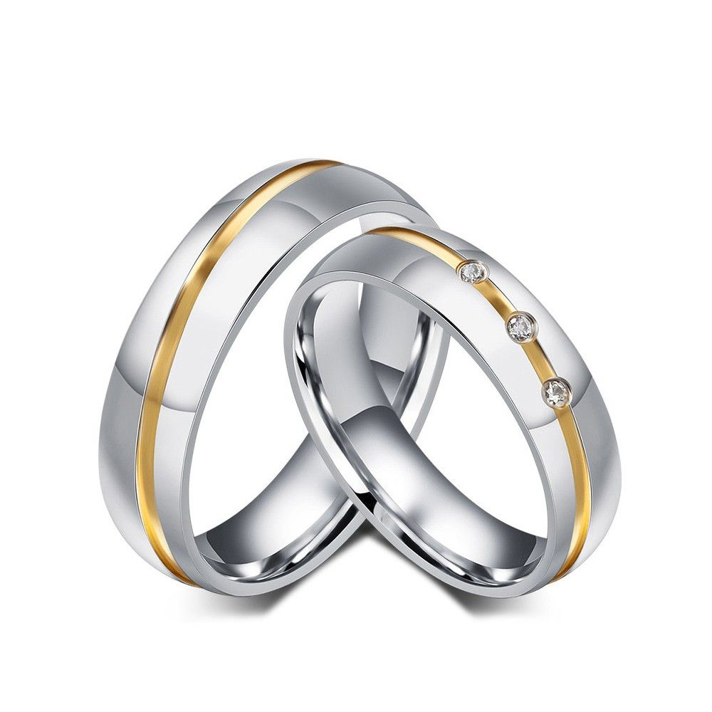 Crafted in bright white and warm yellow stainless steel