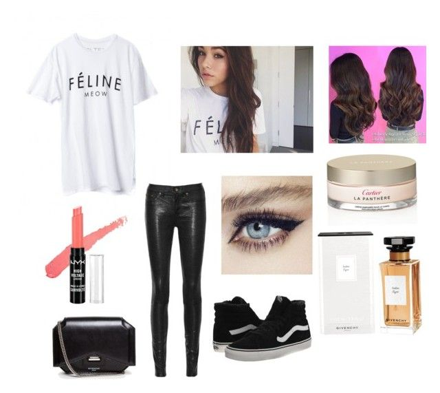 """""""Madison Beer"""" by chanel-xox ❤ liked on Polyvore featuring rag & bone/JEAN, NYX, Cartier, Givenchy and Vans"""