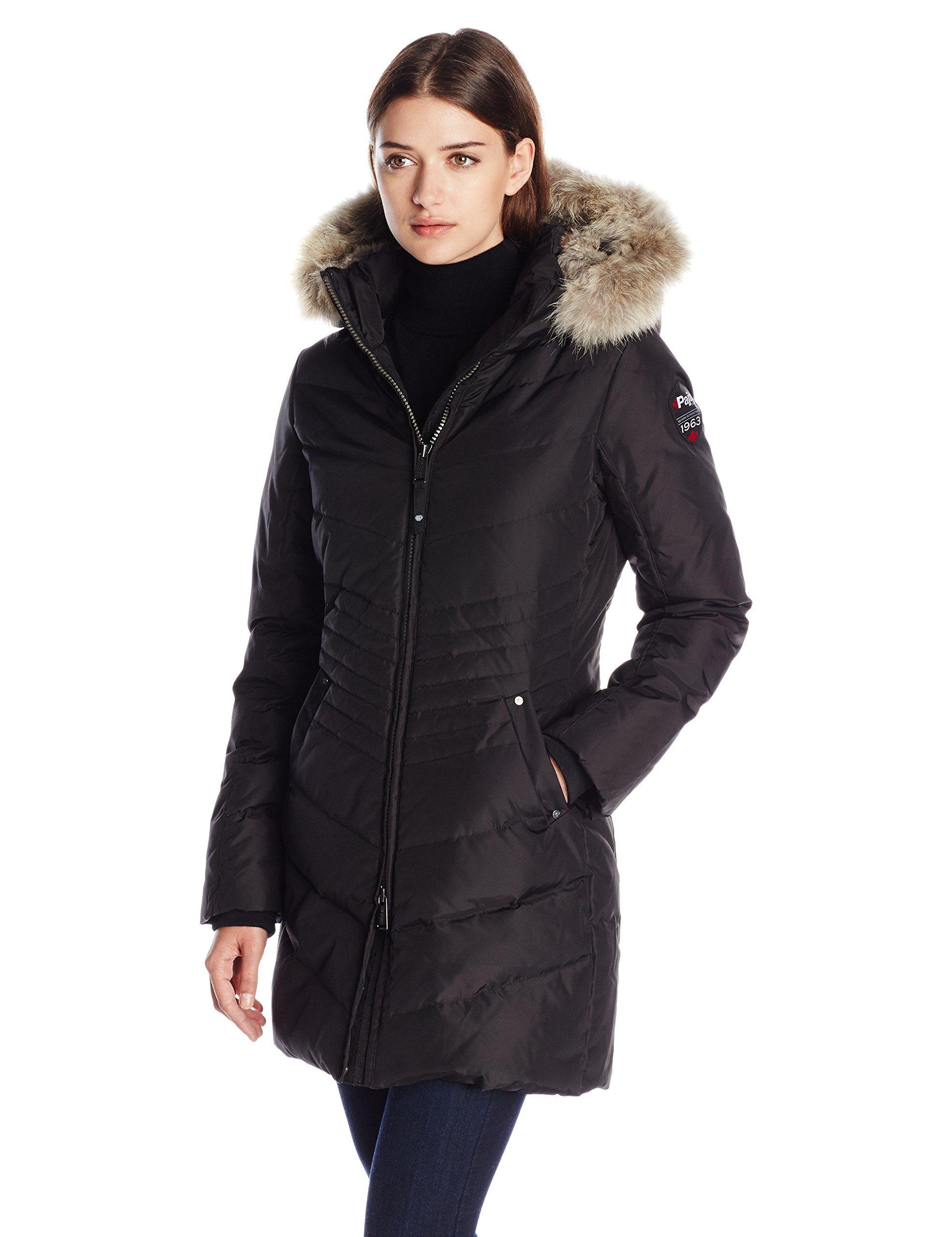 d57b2306083 Pajar Women s Brooklyn Long Down Parka with Fur Hood
