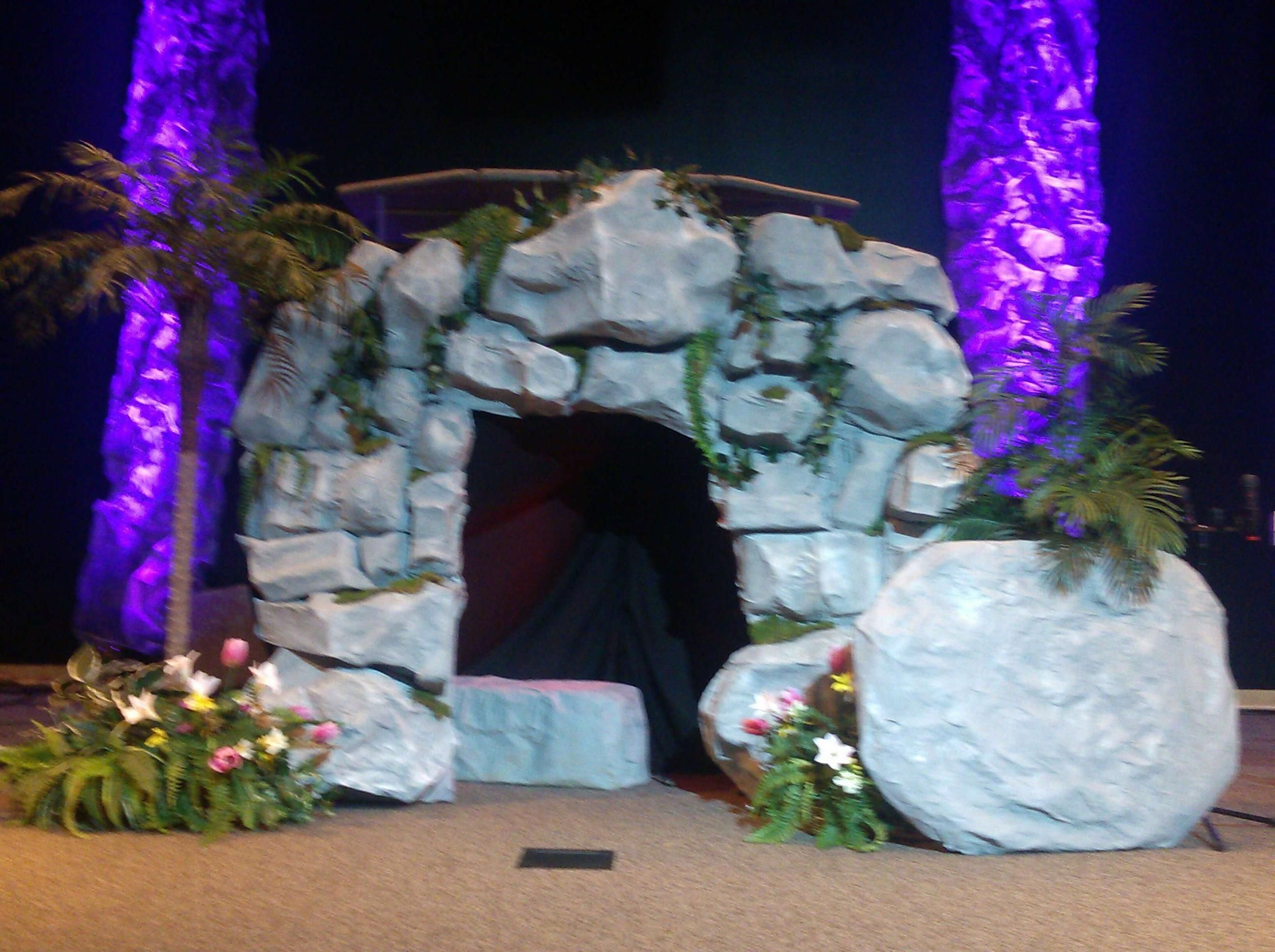 Paper Mache Decorating Jesus Empty Tomb Made Out Of Paper Mchc For Kids Musical