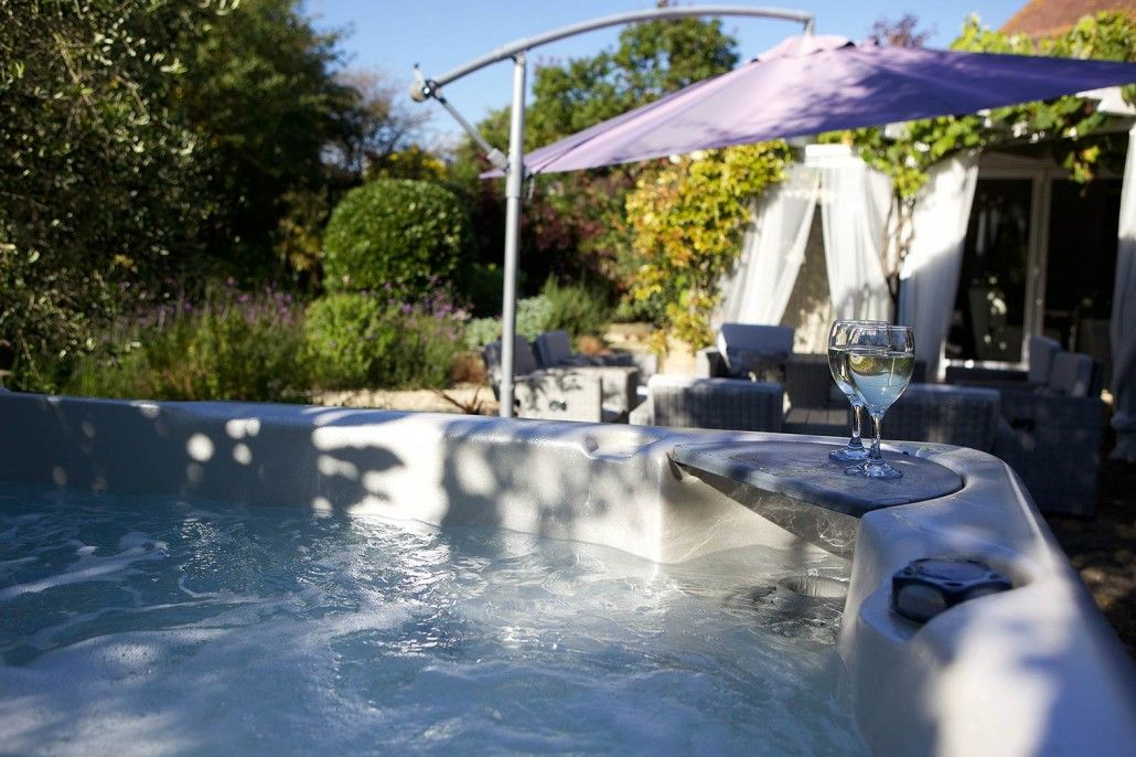 Hot Tub at Coral Beach House, Angmering-On-Sea, West Sussex.