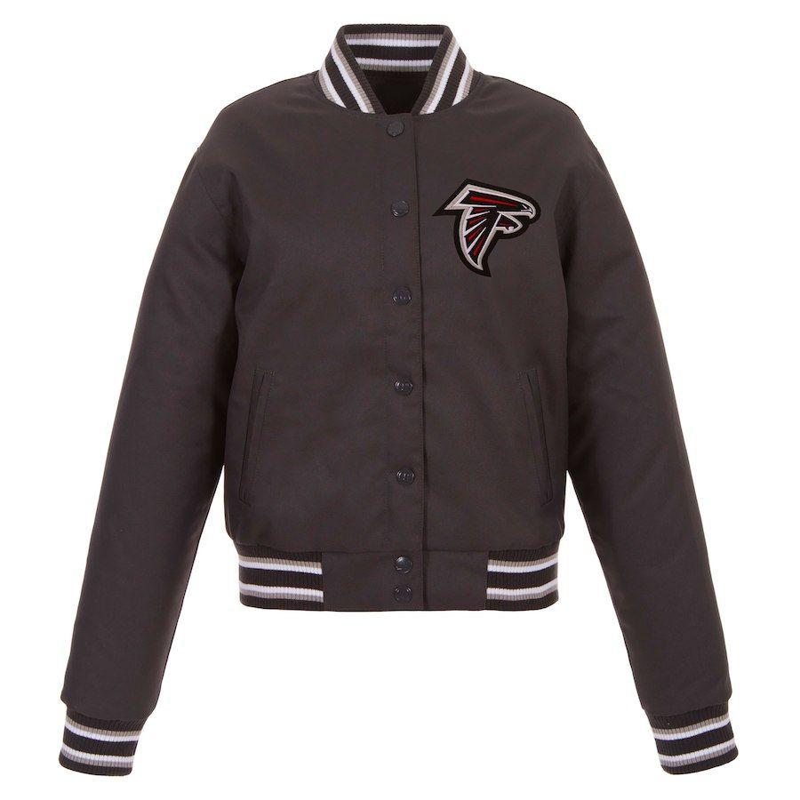 Women S Atlanta Falcons Jh Design Charcoal Embroidered Logo Poly Twill Jacket Twill Jacket Columbus Blue Jackets Blue Jacket [ 900 x 900 Pixel ]