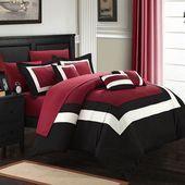 Chic Home Duke 10 Piece Bed Set #graybedroomwithpopofcolor Chic Home Duke 10 Piece Bed Set #graybedroomwithpopofcolor