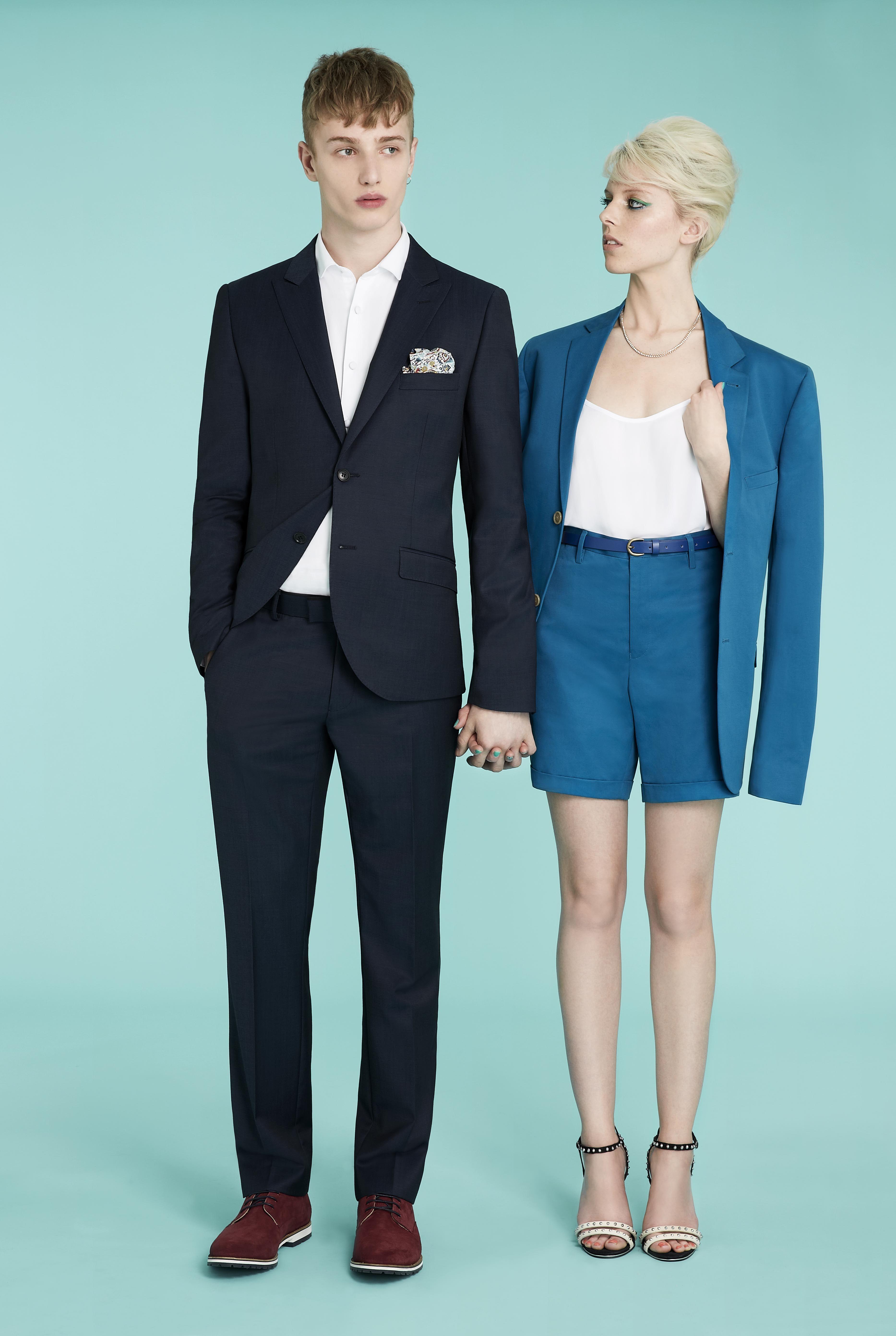 Navy Up Spec Skinny Suit, Topman SS13 Suits http://tpmn.co/12cjC5r ...