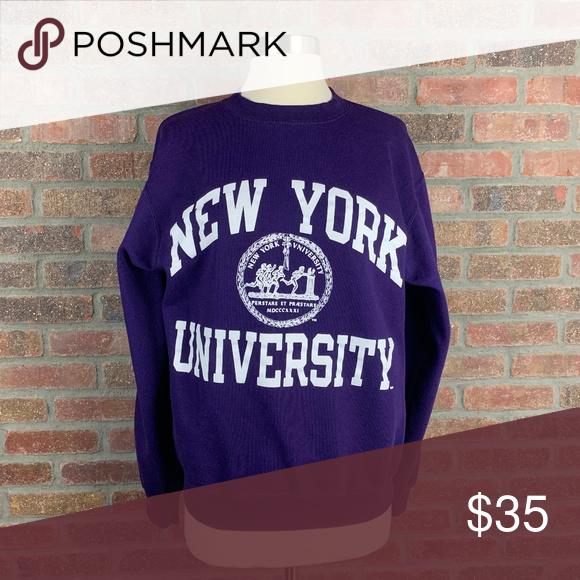 Champion New York University Sweatshirt Sz S Sweatshirts University Sweatshirts Sweatshirt Tops