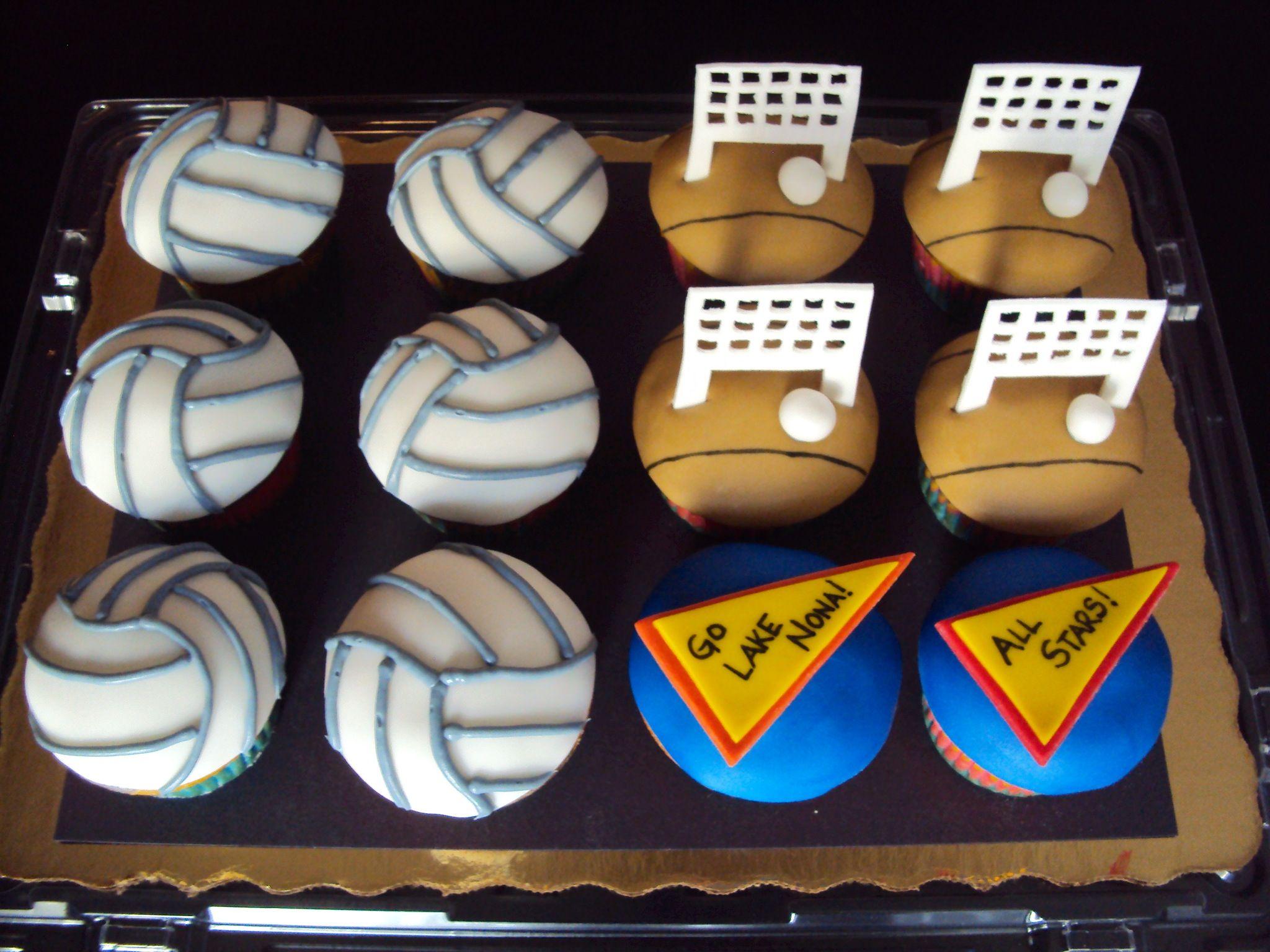 Vollyball set cupcakes