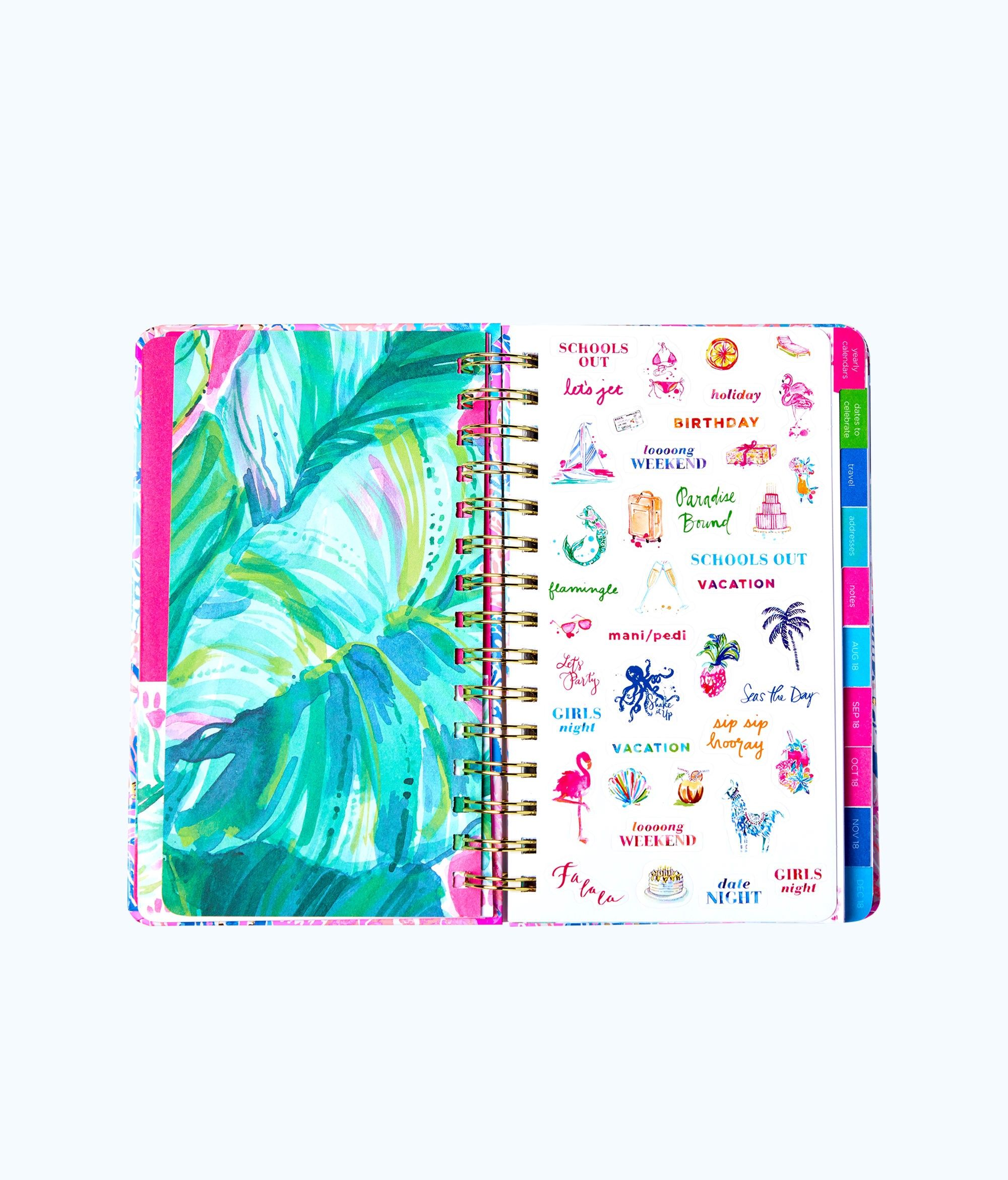 20a9086316bd95 Lilly Pulitzer 2019 12 Month Large Monthly Agenda - Deep Indigo Seaglass  Menagerie Planner 1 Sz Gold. Lilly Pulitzer 2018-2019 17 Month Medium ...