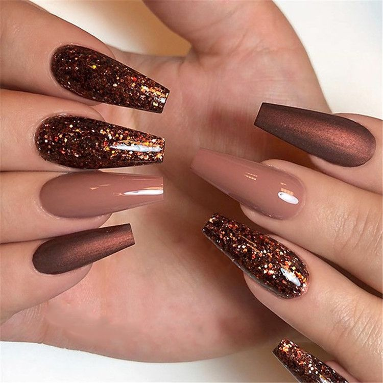 35+ 2019 Hot Fashion Coffin Nail Trend Ideas