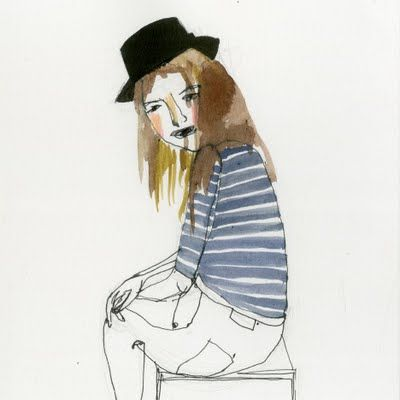 girl in hat by Dasha Tolstikova