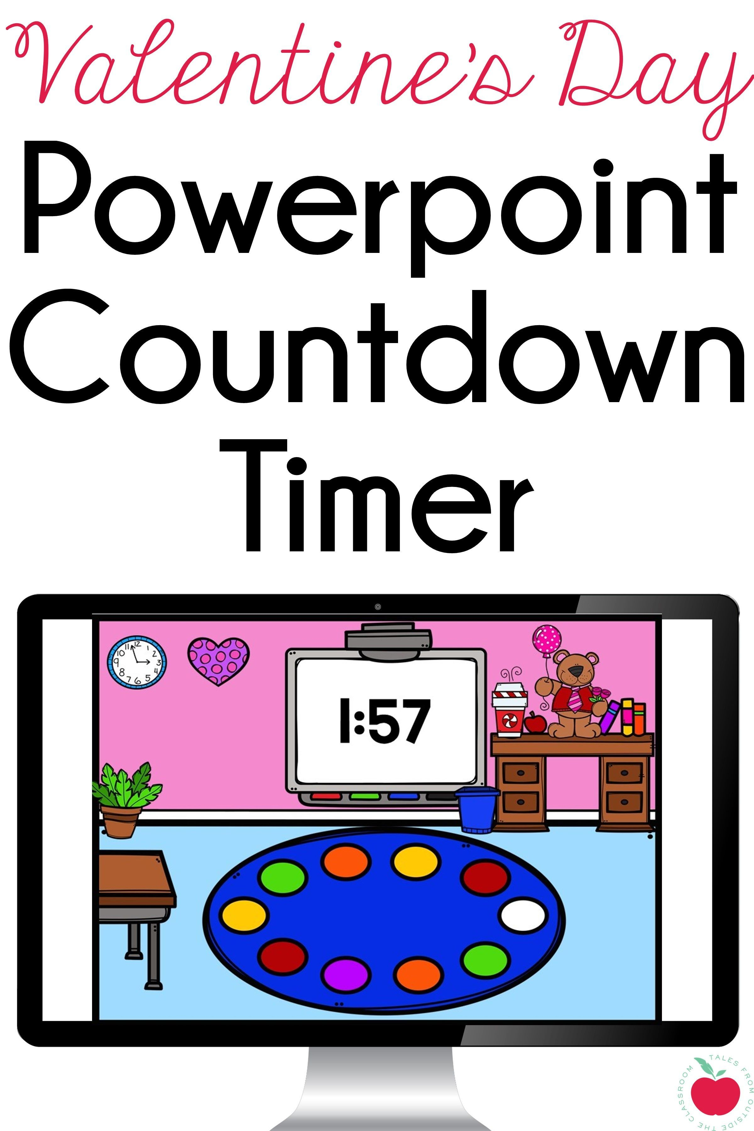 Valentine's Day Powerpoint Countdown Timers freebie