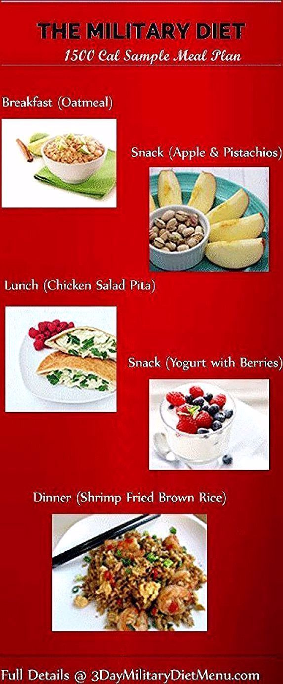 Military Diet Four Days Off Meal Plan This 1500 Calorie Diet  military diet