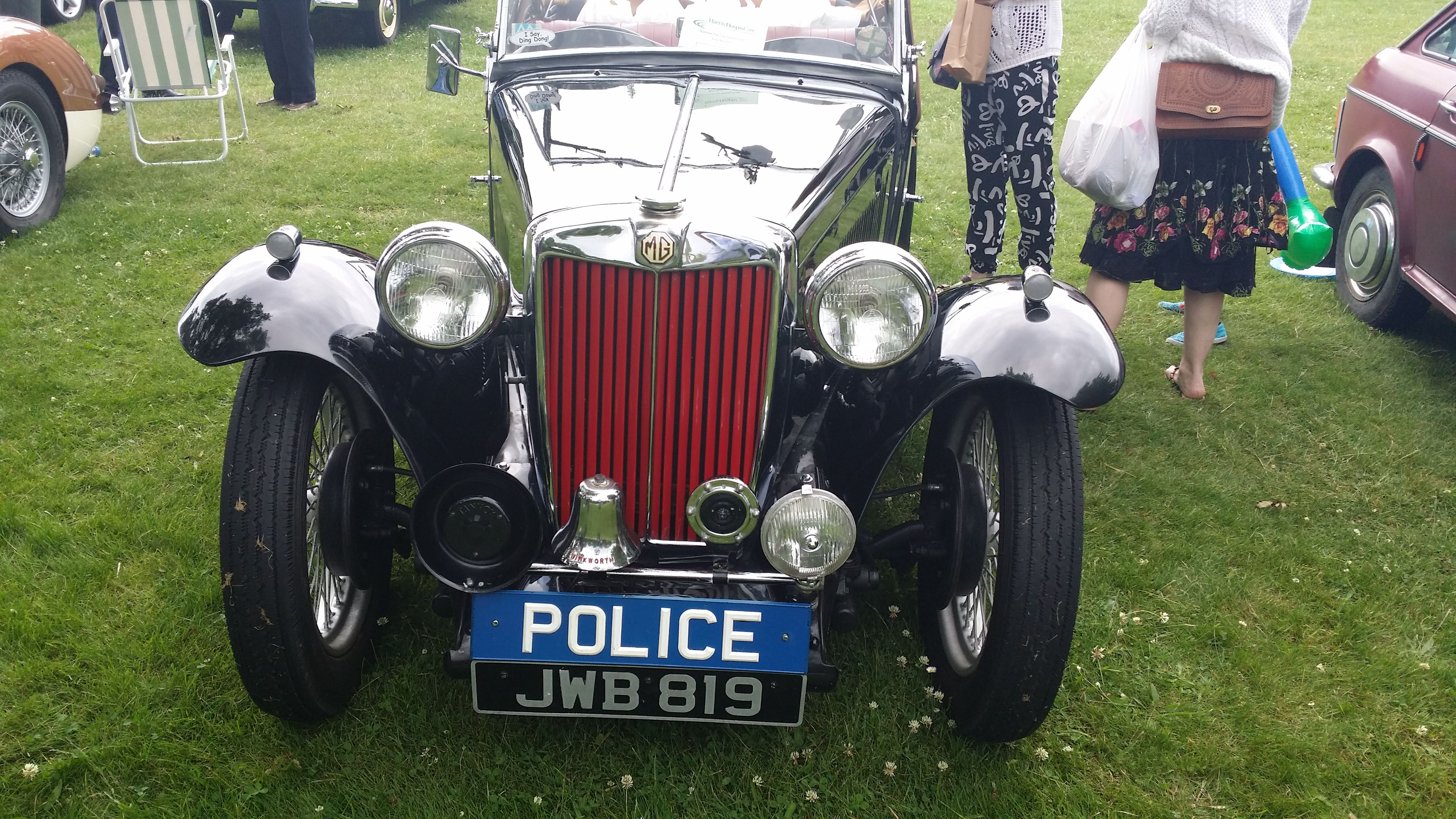 Don\'t worry no one is in trouble. A vintage Police Car makes a ...