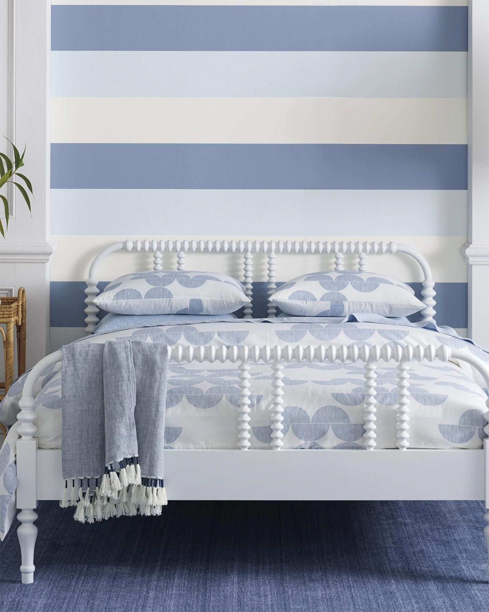 Coastal Stripe Wallpaper  Serena & Lily #Coastalcottage