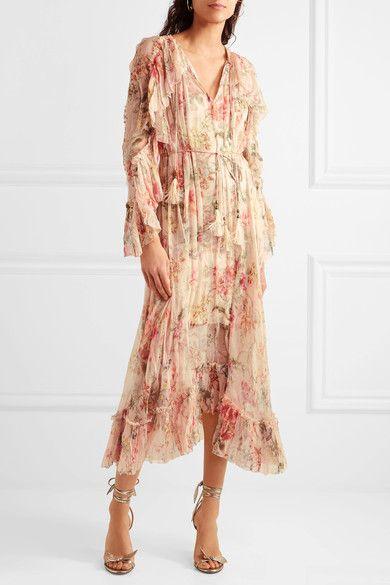 97a5321ae55a Zimmermann | Mercer Floating ruffled floral-print silk-georgette dress |  NET-A-PORTER.COM